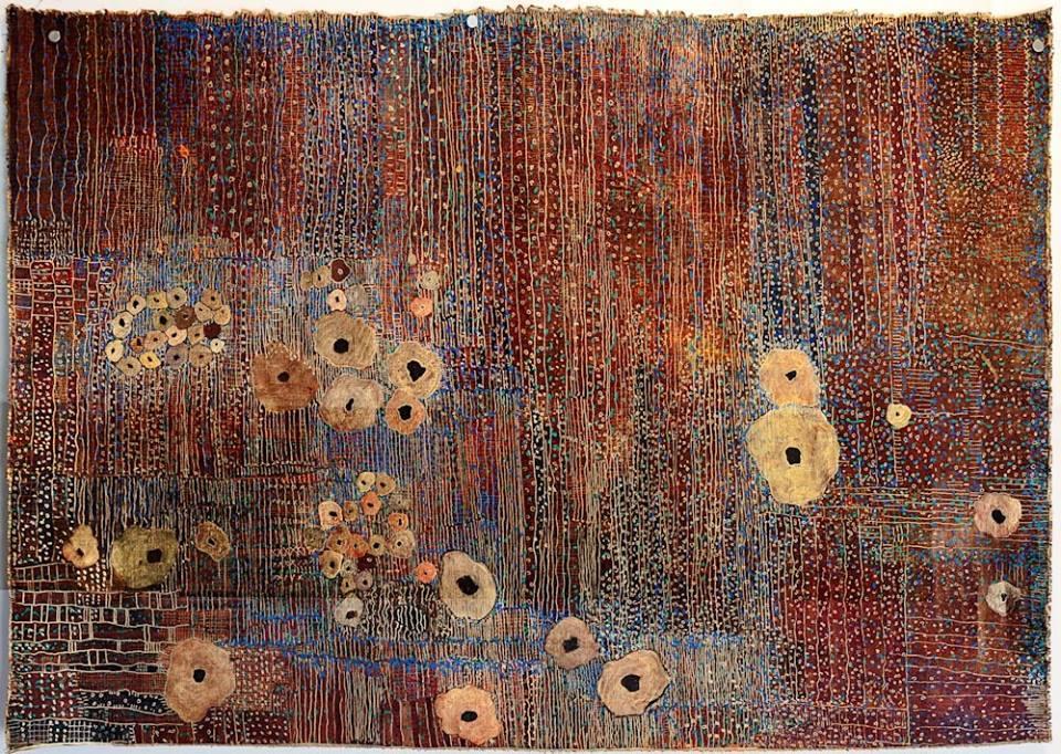 Huguette Caland, *Golden Daisies*, 2009