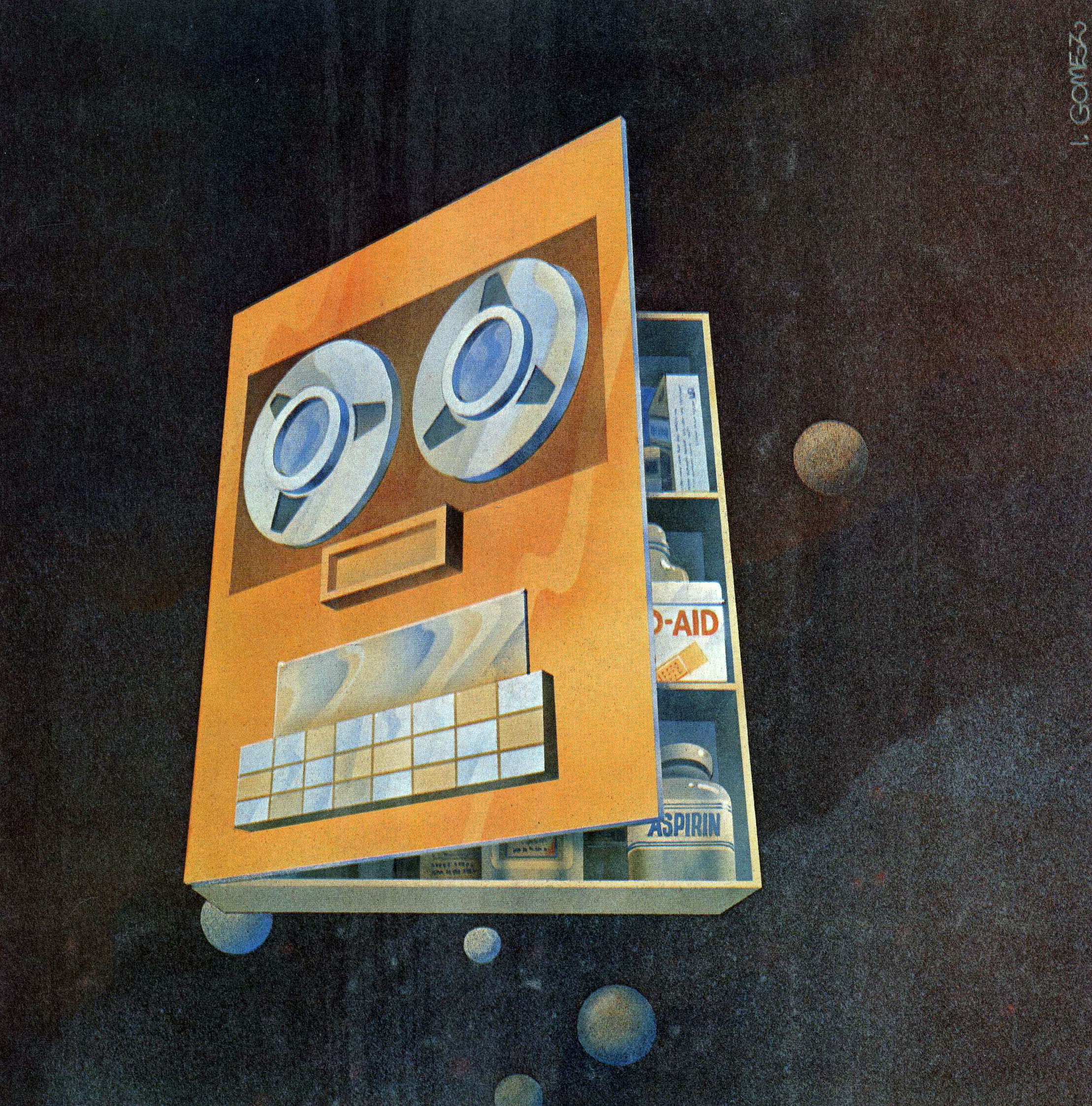 I. Gomez, Detail from cover of _IEEE Computer_, Jan. 1971