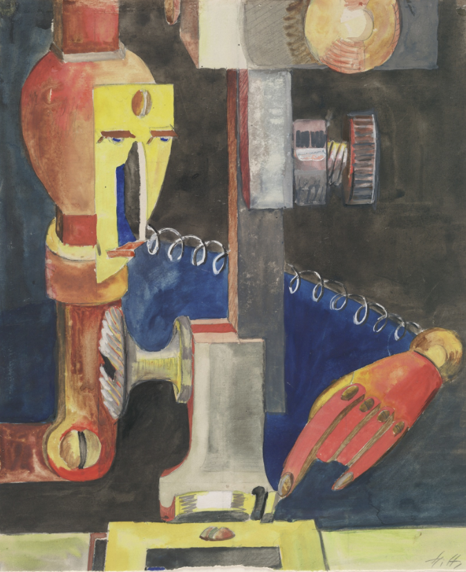 Hannah Höch - Study for Man and Machine (Skizze zu Mensch und Maschine), 1923