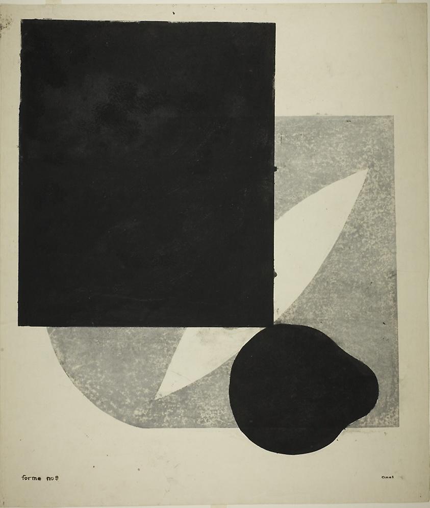 Kōshirō Onchi Forme No. 9: About Black Color