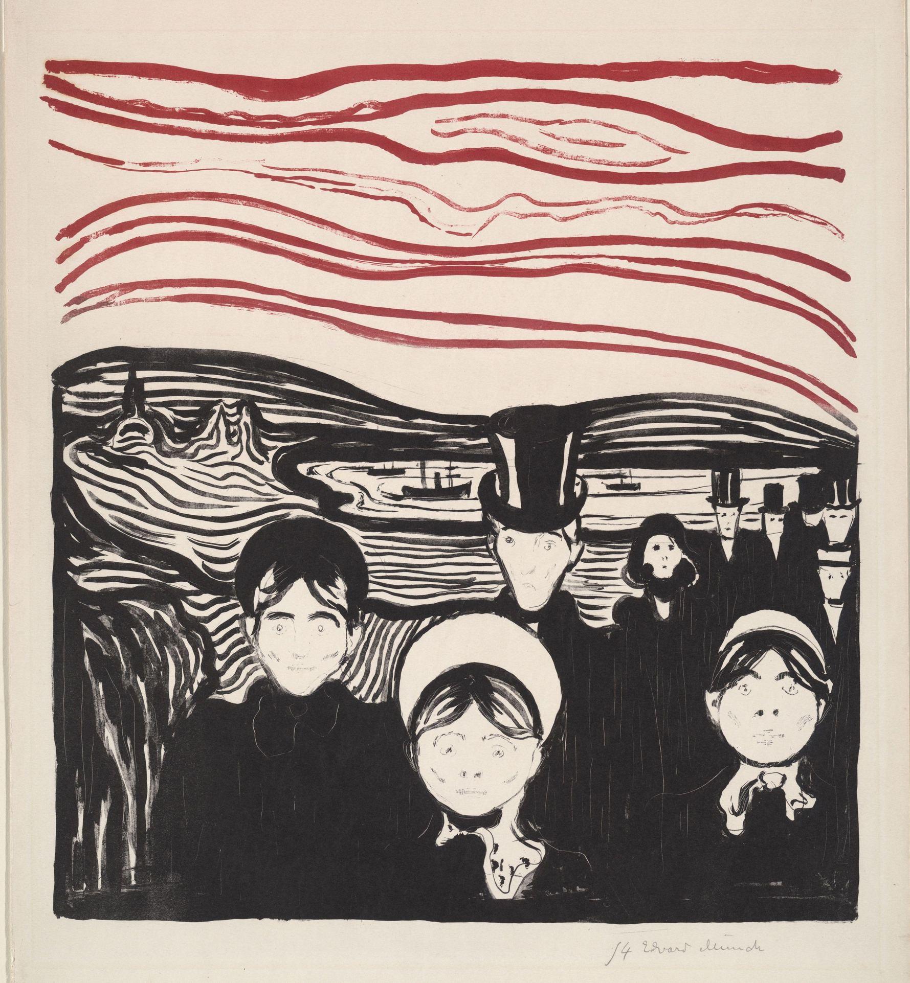 Edvard Munch - Angst, 1896