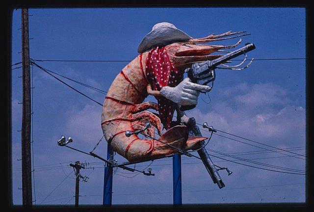 Christie's Restaurant sign, cowboy shrimp, Houston, Texas