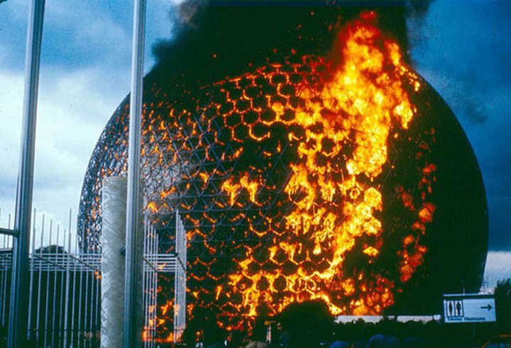 Gilles Hermann, Fire at the Biosphere