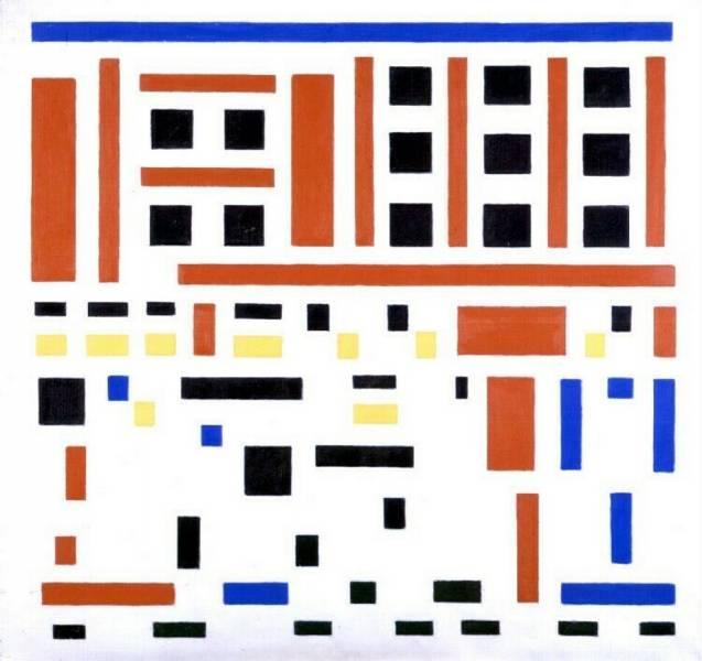 Bart Van der Leck - *Composition 1917 no. 4 (Leaving the Factory)*, 1917